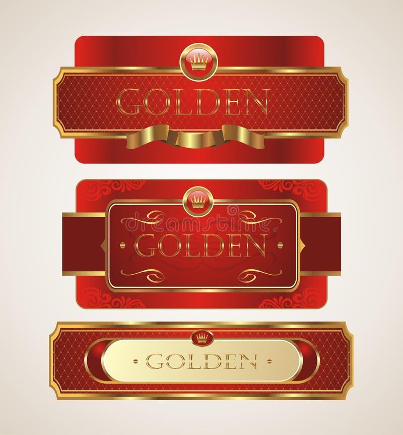 Gouden etiket stock foto's