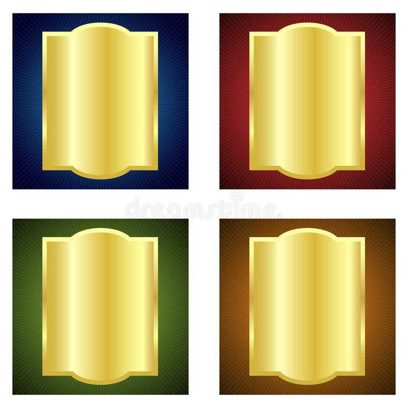 Gouden etiketten stock illustratie