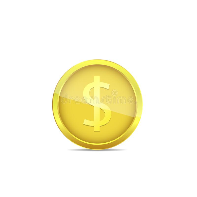 Gouden euro muntstuk royalty-vrije illustratie