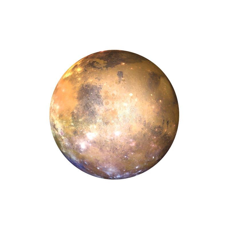 Gouden Exoplanet, Vreemde 3D Planeet geeft terug stock afbeelding