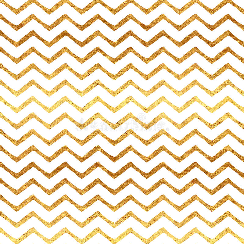 Gouden Faux-van de Foliechevron Metaal Wit Patroon Als achtergrond royalty-vrije stock foto
