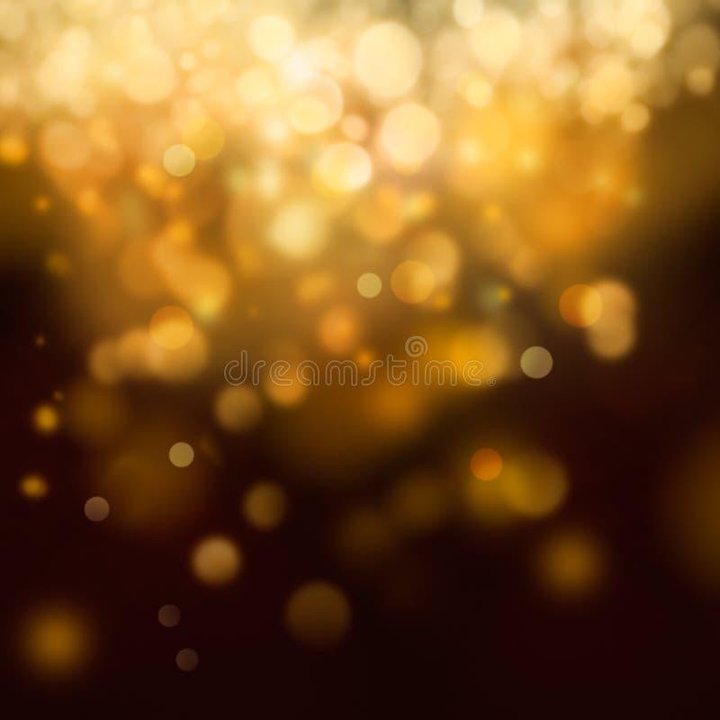 Gouden Feestelijke Kerstmisachtergrond vector illustratie