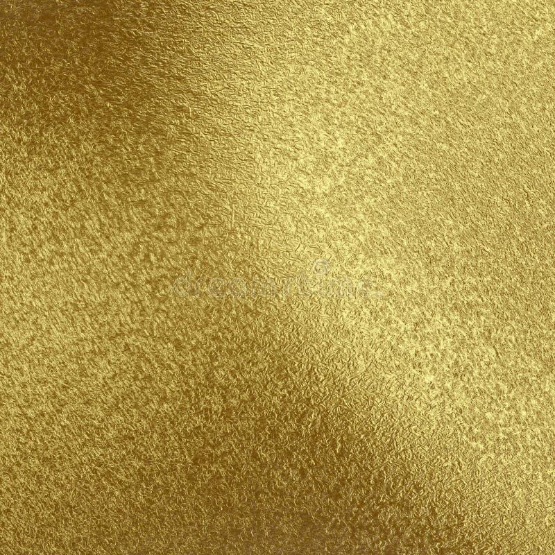 Gouden folieachtergrond, Gouden textuur, Gouden Behang Metaalbehang voor druk, ontwerp van prentbriefkaaren, royalty-vrije illustratie