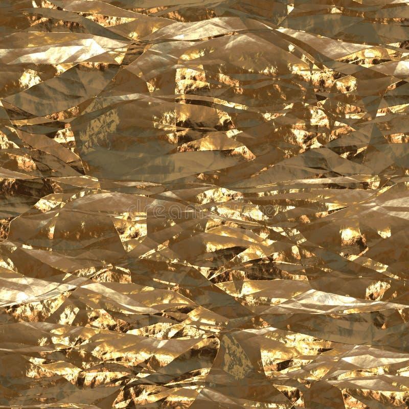 Gouden folieoppervlakte stock afbeelding