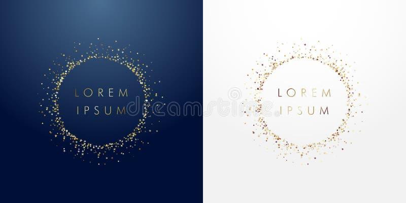 Gouden fonkelende ring royalty-vrije illustratie