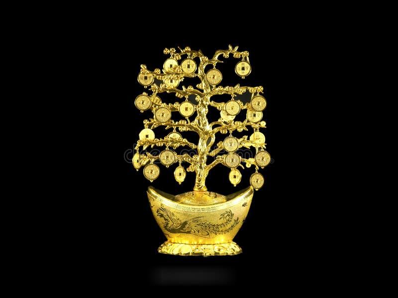 Gouden fortuinboom royalty-vrije stock afbeelding