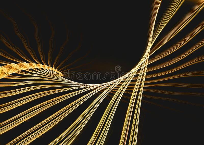 Gouden fractal structuur vector illustratie