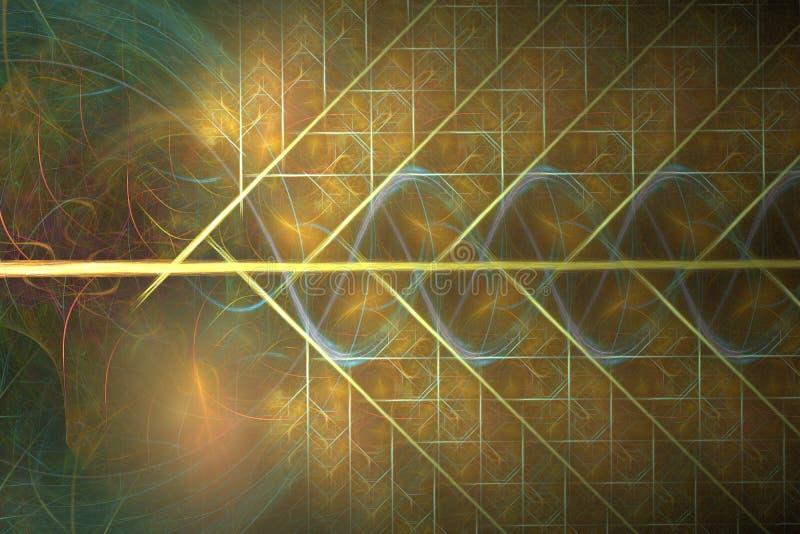 Gouden fractal weefsel stock illustratie
