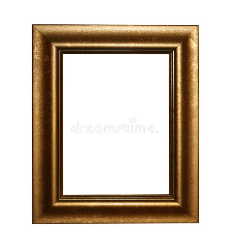Gouden fram met weg royalty-vrije stock fotografie