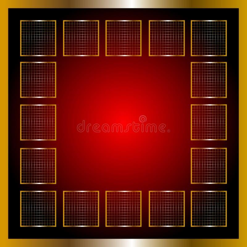 Download Gouden frame vector illustratie. Illustratie bestaande uit glas - 29510268