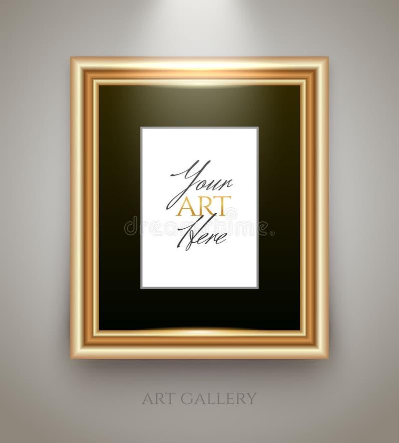 Gouden frame met lege plaats vector illustratie