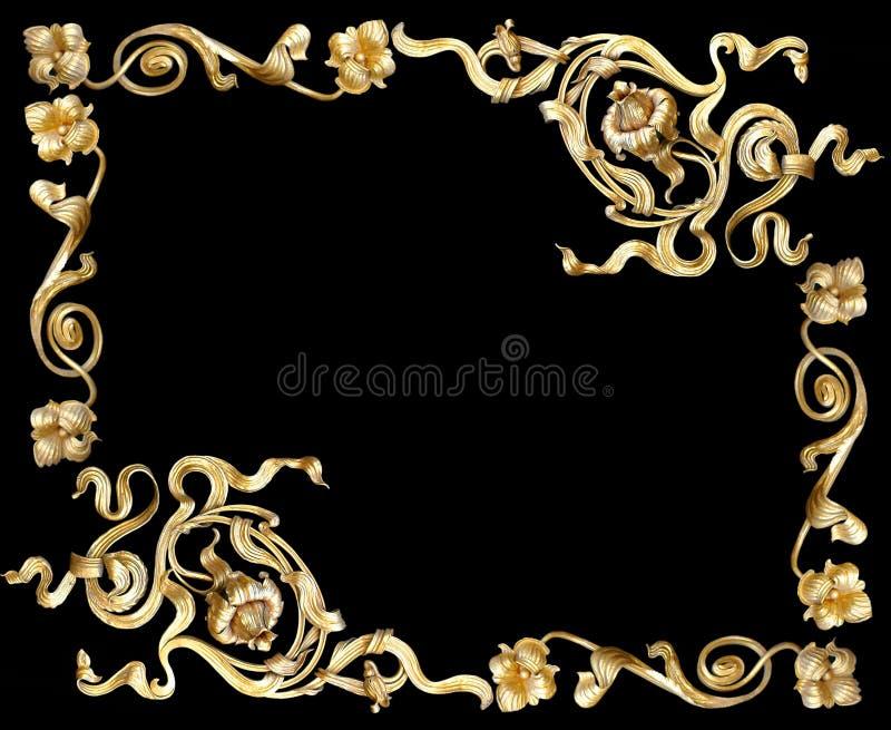 Gouden frame2 stock foto's