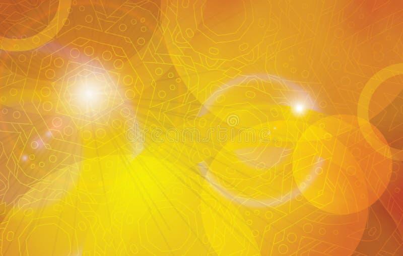 Gouden futuristische vectorachtergrond stock illustratie