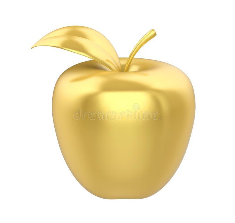 Gouden Geïsoleerd Apple royalty-vrije illustratie