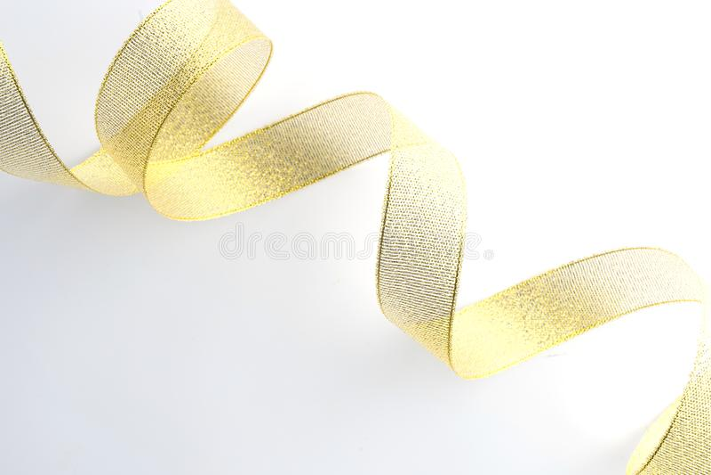 gouden geïsoleerde lintinzameling stock afbeelding