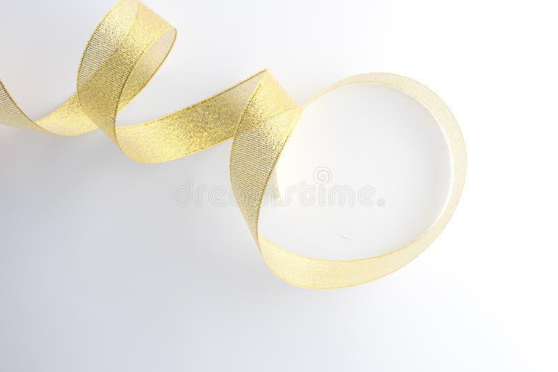 gouden geïsoleerde lintinzameling stock foto's