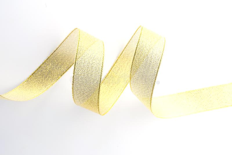 gouden geïsoleerde lintinzameling stock foto