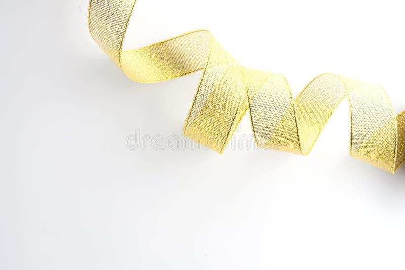 gouden geïsoleerde lintinzameling stock fotografie