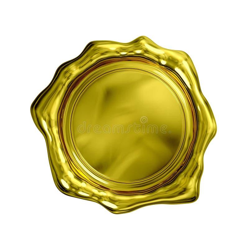 Gouden Geïsoleerde Verbinding - royalty-vrije illustratie