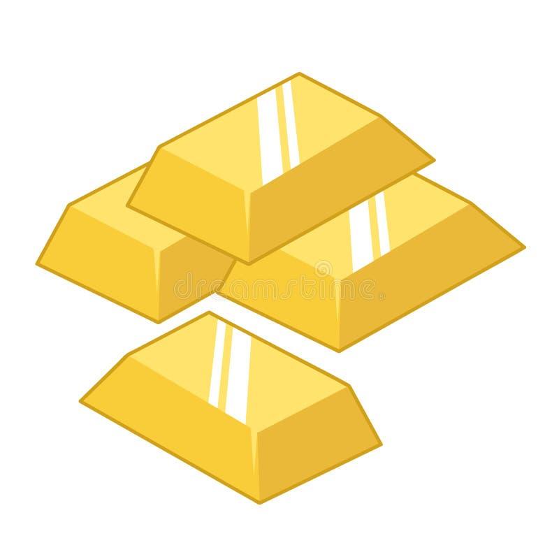 Gouden geïsoleerdea baren royalty-vrije illustratie