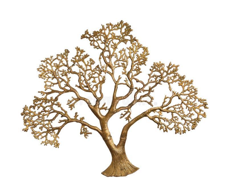 Gouden geïsoleerded boom royalty-vrije stock foto's