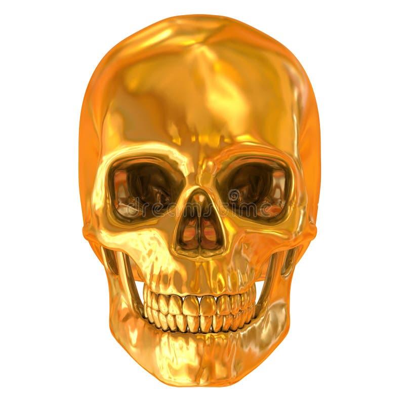 Gouden geïsoleerdes schedel vector illustratie