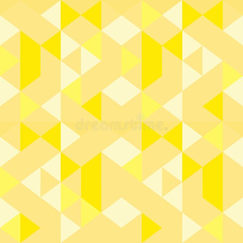 Gouden geel naadloos geometrisch kleurrijk driehoekspatroon royalty-vrije illustratie