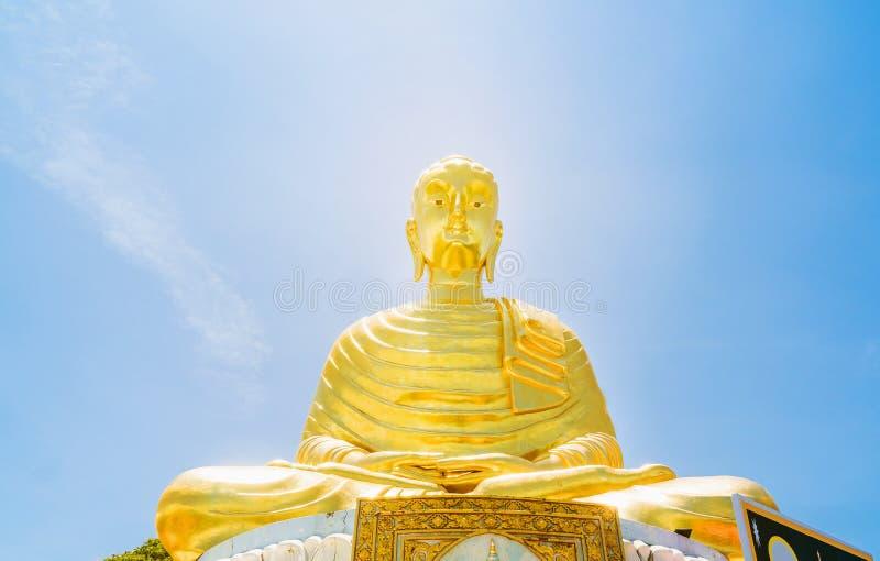Gouden geel van Gautama Buddha royalty-vrije stock foto's