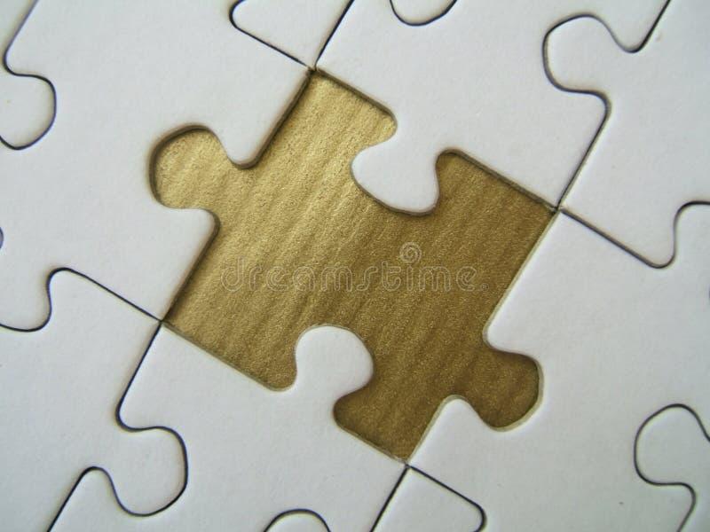 Gouden gemist element royalty-vrije stock afbeelding