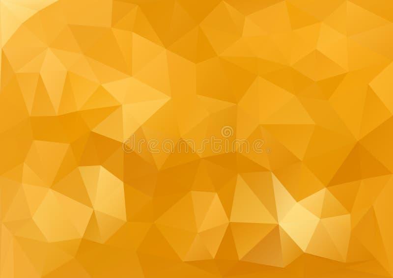 Gouden geometrisch patroon stock illustratie