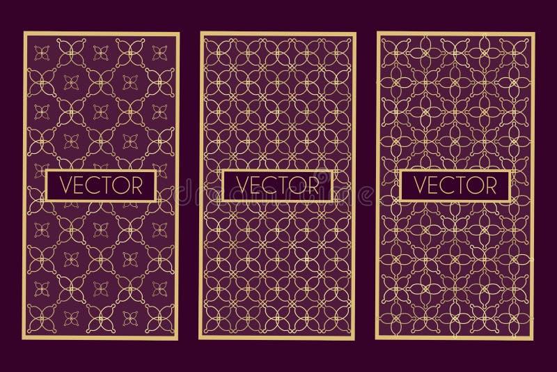 gouden geometrische kaders royalty-vrije illustratie