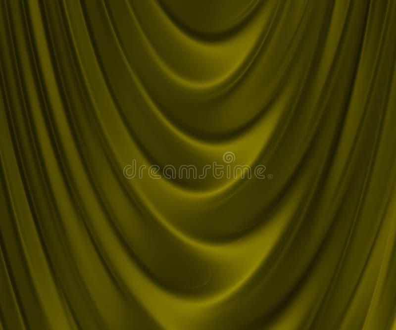 Gouden gevouwen stof royalty-vrije illustratie