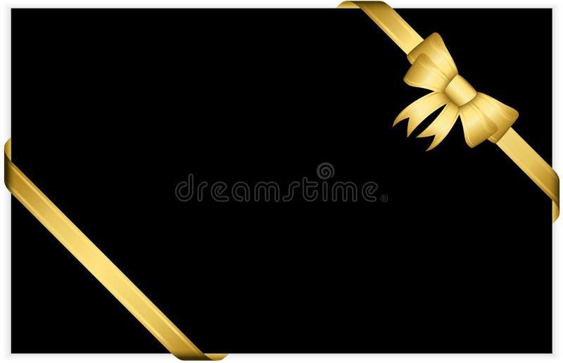 Gouden giftboog met linten vector illustratie