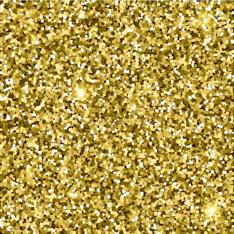 Gouden glitterytextuur Fonkelings gouden vectorachtergrond stock illustratie