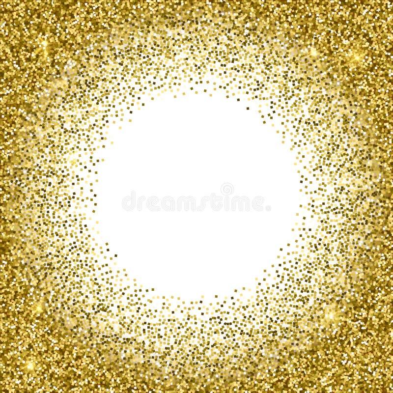 Gouden glitterytextuur Fonkelings gouden vectorachtergrond vector illustratie