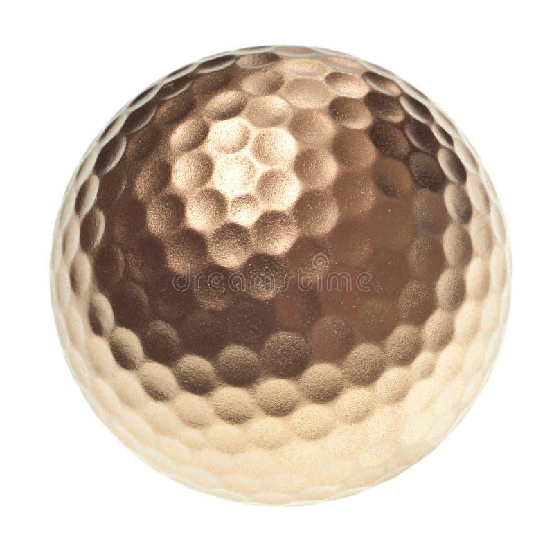 Gouden golfbal stock afbeelding