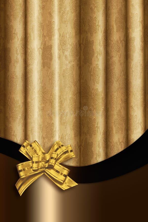 Gouden gordijn stock fotografie