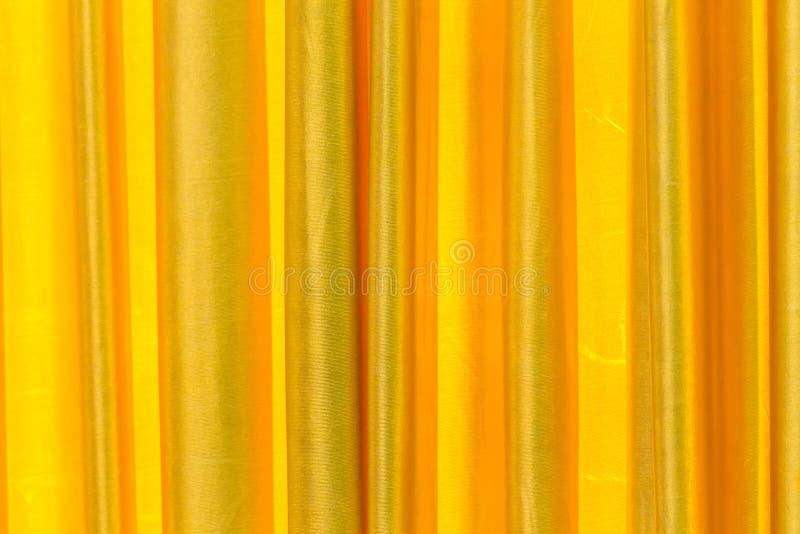 Gouden Gordijn op stadium stock fotografie