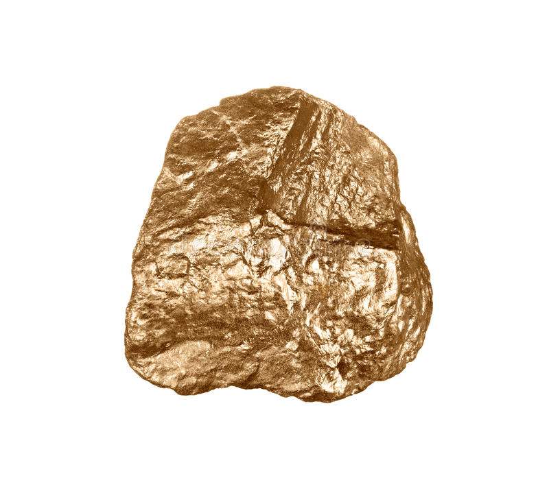 Gouden goudklompje royalty-vrije stock foto