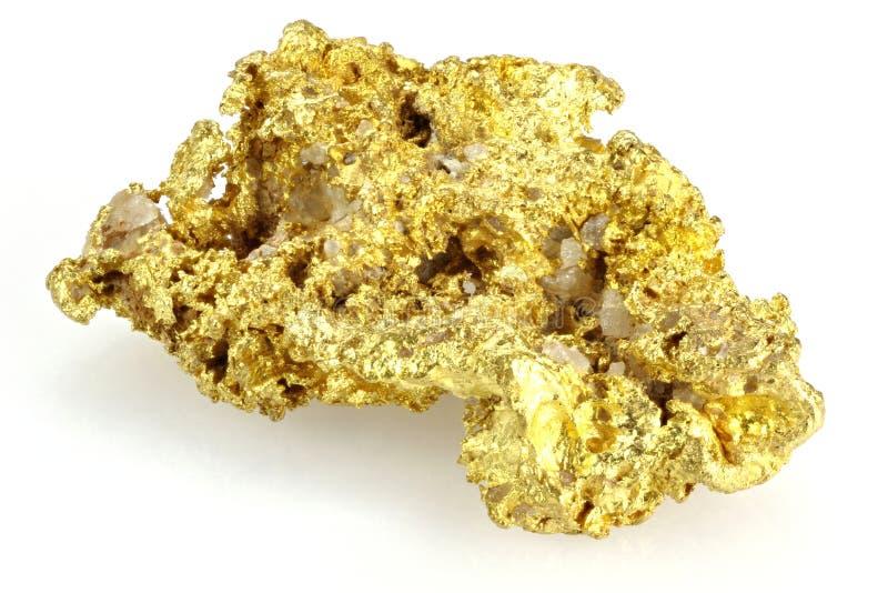 Gouden goudklompje stock afbeelding
