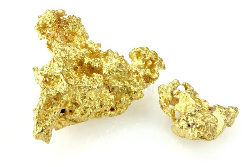 Gouden goudklompjes royalty-vrije stock foto