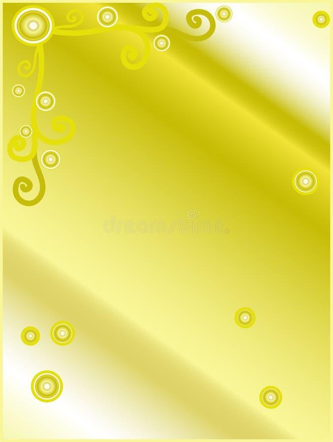 Gouden gradiëntbrief royalty-vrije illustratie
