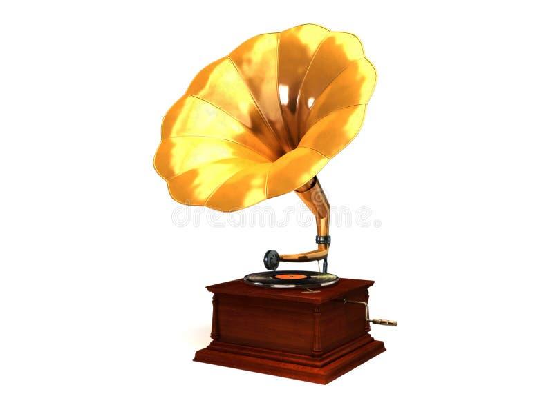 Gouden grammofoon royalty-vrije illustratie