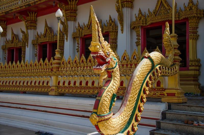 Gouden grote naga stock afbeeldingen