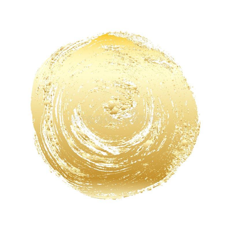 Gouden grunge vectorcirkel royalty-vrije stock afbeelding