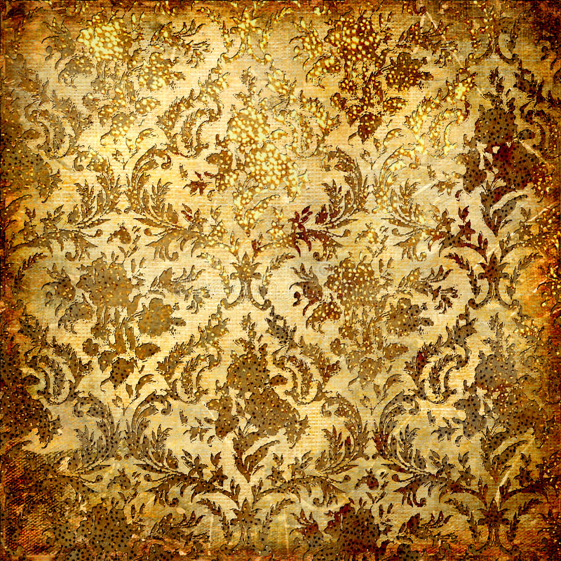 Gouden grungeachtergrond royalty-vrije illustratie