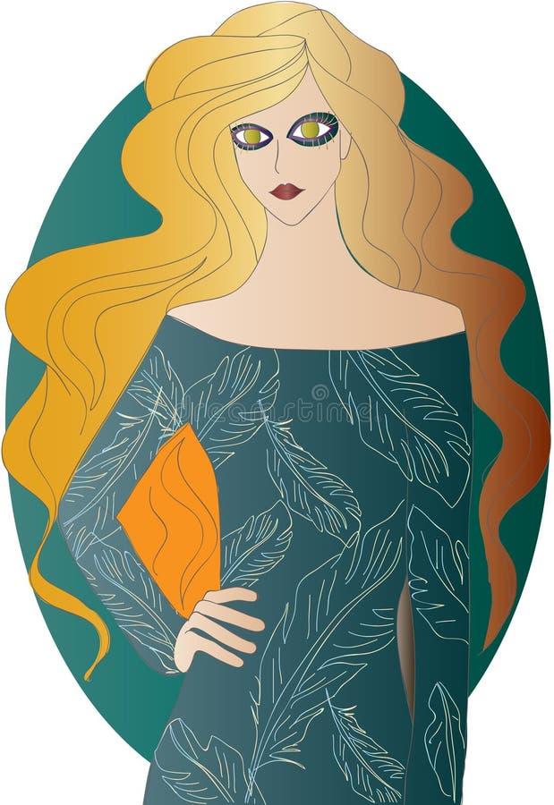 Gouden-haired meisje royalty-vrije stock afbeelding