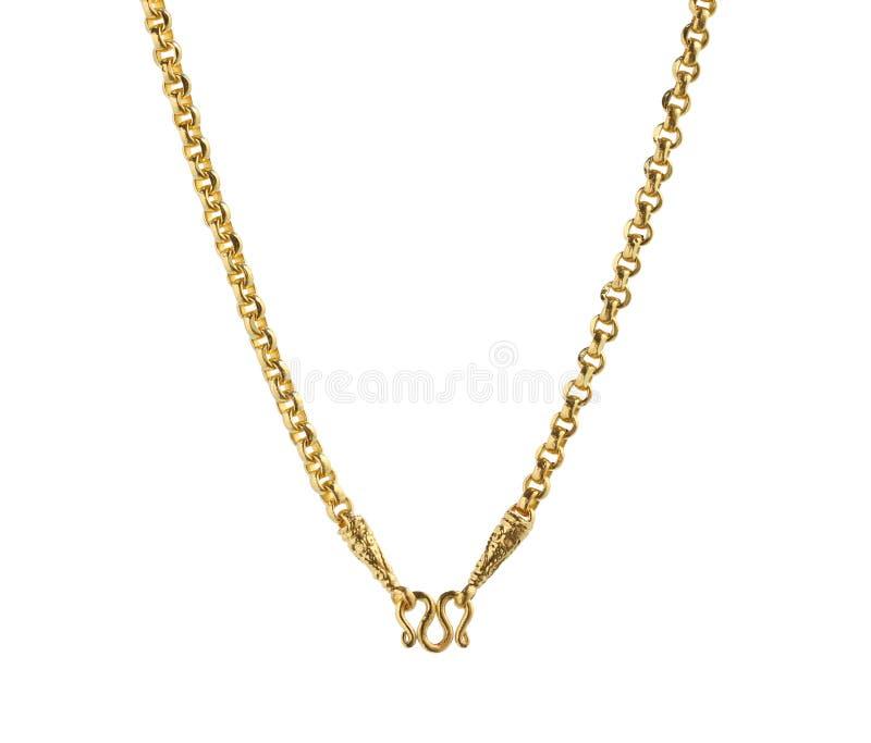 Gouden halsband inbegrepen clasper haak royalty-vrije stock fotografie