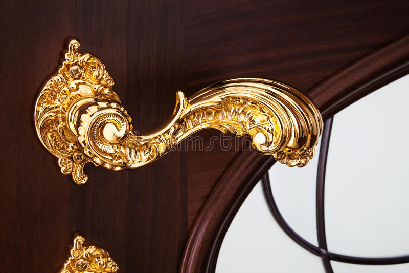 Gouden handvat royalty-vrije stock foto