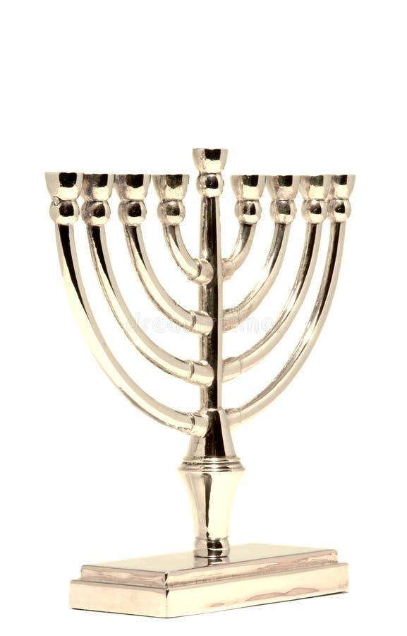 Gouden Hannukah Menorah royalty-vrije stock afbeeldingen